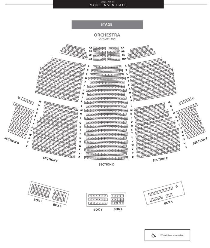 William H. Mortensen Hall Seating Chart